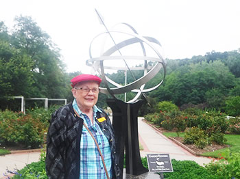 Residents from Immanuel Village senior living community visit Lauritzen Gardens in Omaha, Nebraska.