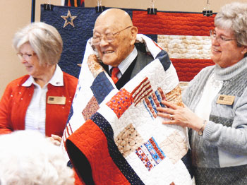Image for Pacific Springs Resident Receives Quilt of Valor