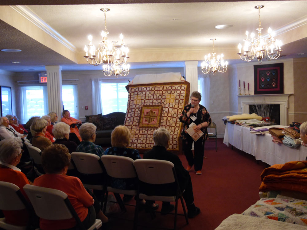 A presentation given at The Arboretum senior living community's quilt show