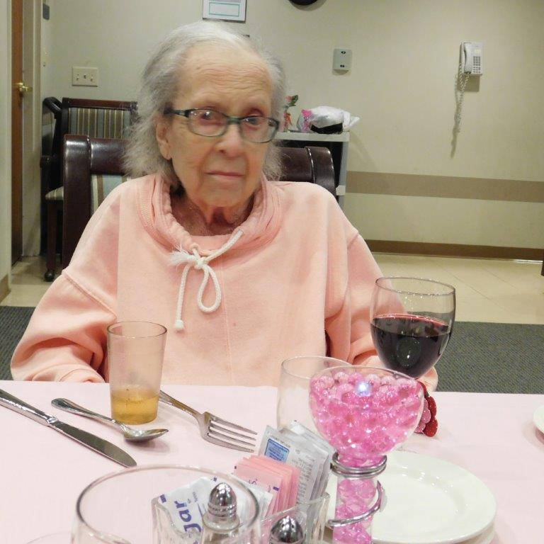 Residents at Clark Jeary retirement community enjoy a candlelit Valentine's Day dinner