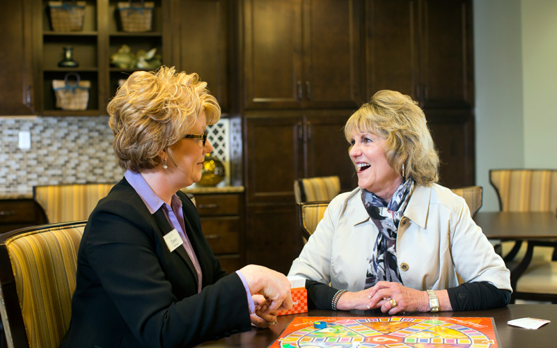 Senior living consultants work with resident to support their retirement and health care goals.