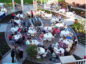 The Landing senior living community in Lincoln, Nebraska dedicates their new patio and recognizes founding residents during Grandparent's Day.