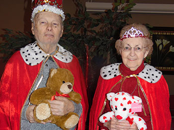 Immanuel Courtyard residents celebrate valentines day at the senior living community